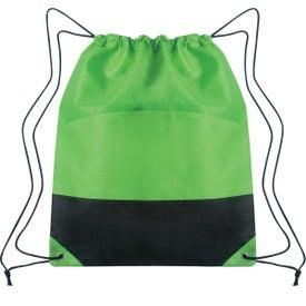 Custom Non-woven Two-tone Drawstring Sports Pack