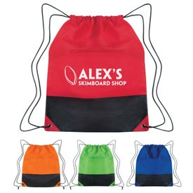 Personalized Non-woven Two-tone Drawstring Sports Pack