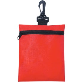Non-woven Zippered Pouch Printed with Your Logo