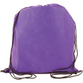 Logo Non-Woven Drawstring Backpack