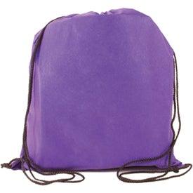 Logo Non-Woven Drawstring Backpack