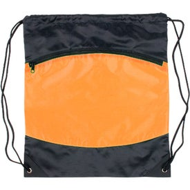Nylon Backpack with Zipper Pocket Giveaways
