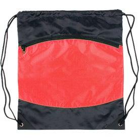 Customized Nylon Backpack with Zipper Pocket