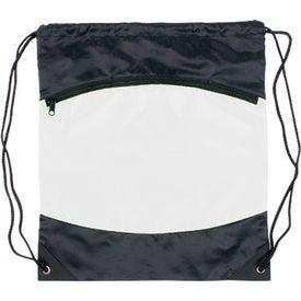 Company Nylon Backpack with Zipper Pocket