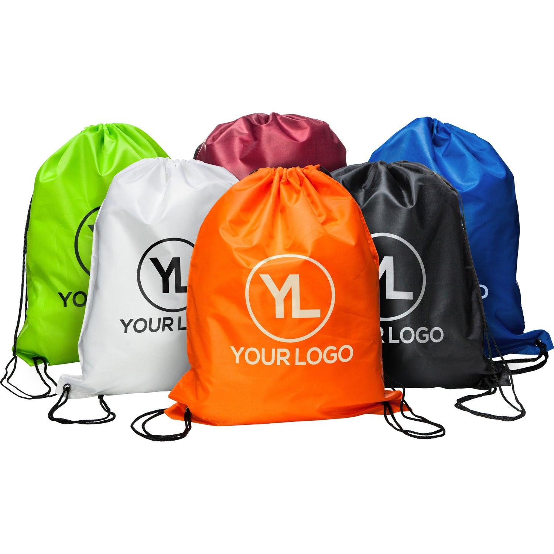 Nylon Drawstring Backpacks Custom