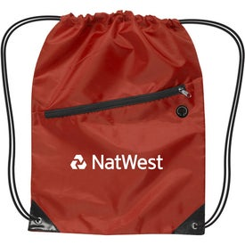 Customized Nylon Drawstring Backpack with Zipper