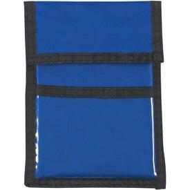 Branded Nylon Neck Wallet Badge Holder