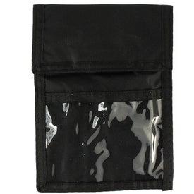 Personalized Nylon Neck Wallet Badge Holder