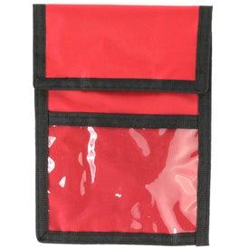 Monogrammed Nylon Neck Wallet Badge Holder