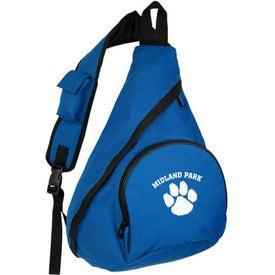 Monogrammed Nylon Sling Bag