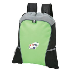 Omega Cinch Backpack Imprinted with Your Logo