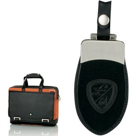 Orange and Black Briefcase with Your Slogan