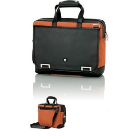 Orange and Black Briefcase