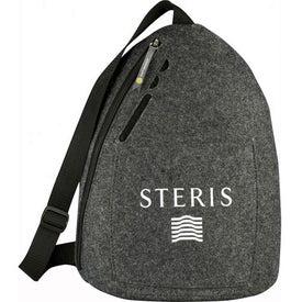 Monogrammed Owl 100% Recycled Felt Sling Backpack