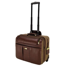 Palermo Napa Leather Canvas Trolley Case with Your Logo