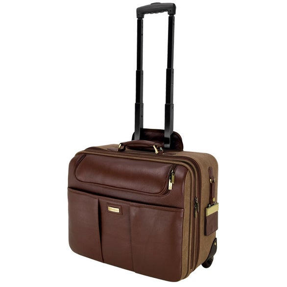 Palermo Napa Leather Canvas Trolley Case