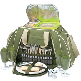 Picnic Duffel for 4 with Your Slogan