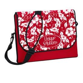 Printed P.K. Reese Messenger Bag Style Laptop Sleeve