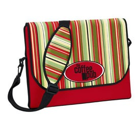 P.K. Reese Messenger Bag Style Laptop Sleeve Imprinted with Your Logo