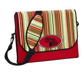 P.K. Reese Designer Messenger Bag Style Laptop Sleeve with Your Slogan