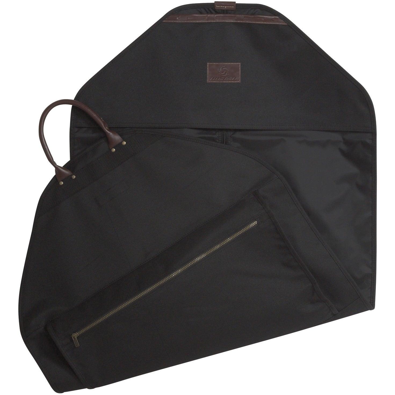 Black Plaza Meridian Garment Bag Branded