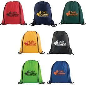 Logo Polyester Drawstring Back Pack