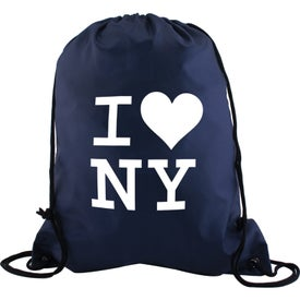 "Polyester Drawstring Back Pack (15"" x 13"")"
