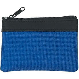 Polyester Zippered Coin Pouch for Your Company