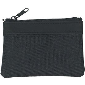 Polyester Zippered Coin Pouch for Promotion