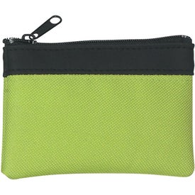 Polyester Zippered Coin Pouch for Advertising