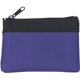 Branded Polyester Zippered Coin Pouch