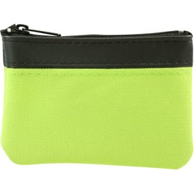 Personalized Polyester Zippered Coin Pouch