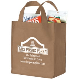 Printed Polytex Deluxe Grocery Bag