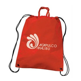 Advertising Polytex Drawstring Backpack With Handle