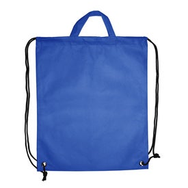 Polytex Drawstring Backpack With Handle Imprinted with Your Logo