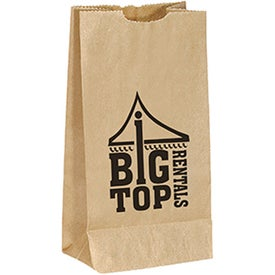 "Popcorn Bag (4.75"" x 8.75"" x 3"", Brown)"