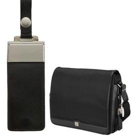 Company Prato Split Leather Twill Nylon Messenger Bag