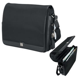 Prato Split Leather Twill Nylon Messenger Bag