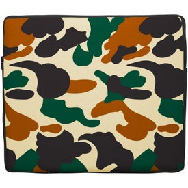 Logo Premium Neoprene Laptop Sleeve Solid Color