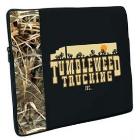 Premium Neoprene Laptop Sleeve with Camo Accent
