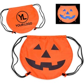 PartyTime Pumpkin Drawstring Bag for your School
