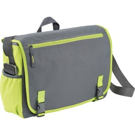 Punch Compu-Messenger Bag Imprinted with Your Logo