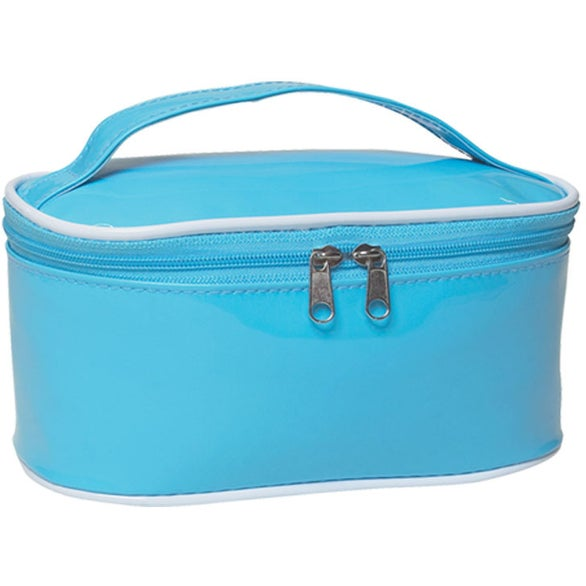 Light Blue PVC Cosmetic Bag