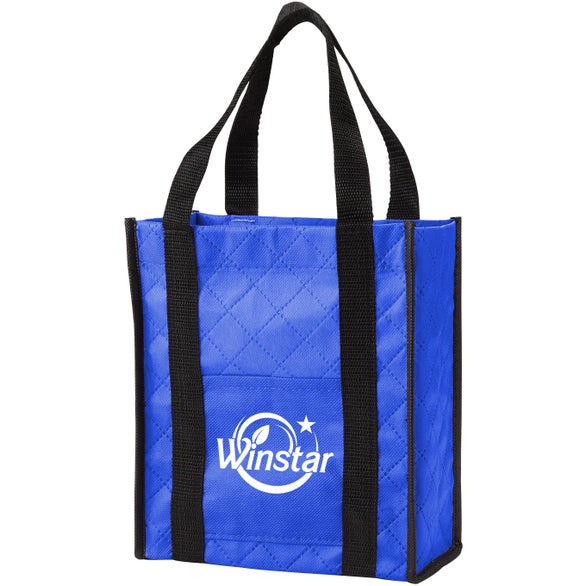 Royal Blue Quilted Non-Woven Gift Tote Bag