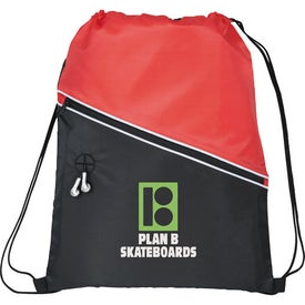 Railway Drawstring Cinch Backpack Printed with Your Logo