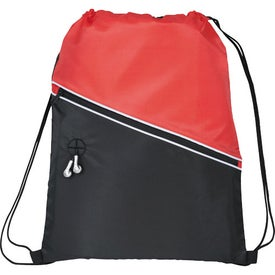 Personalized Railway Drawstring Cinch Backpack