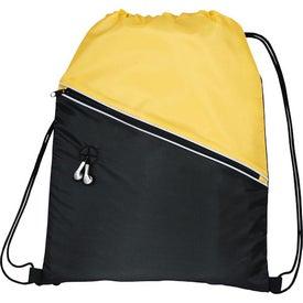 Logo Railway Drawstring Cinch Backpack