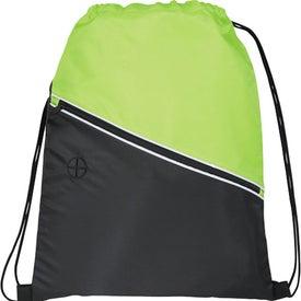 Custom Railway Drawstring Cinch Backpack