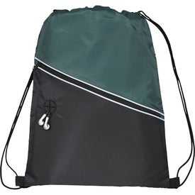 Railway Drawstring Cinch Backpack for Your Company