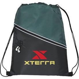 Company Railway Drawstring Cinch Backpack